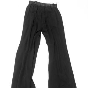 Bebe black sheer maxi pants